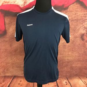 Reebok Play Dry Navy Blue Athletic Shirt M